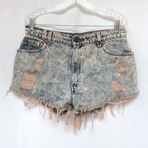 Levi's Distressed High Rise Shorts